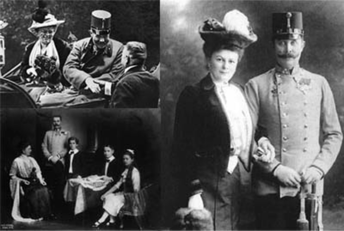 The Archduke Franz Ferdinand and his family