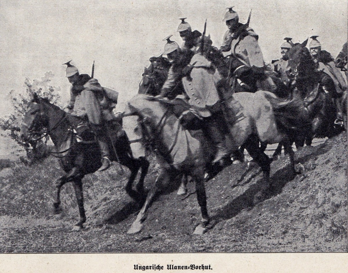 Austro-Hungarian cavalry, which had long since abandoned the lance in 1884, still preferred to charge the enemy to decide the situation with cold steel. Rifle bullets decided it instead.