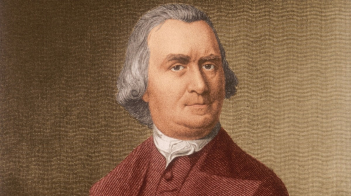 Portrait of Samuel Adams, a Colonial beermaker, who became Governor of Massachusetts