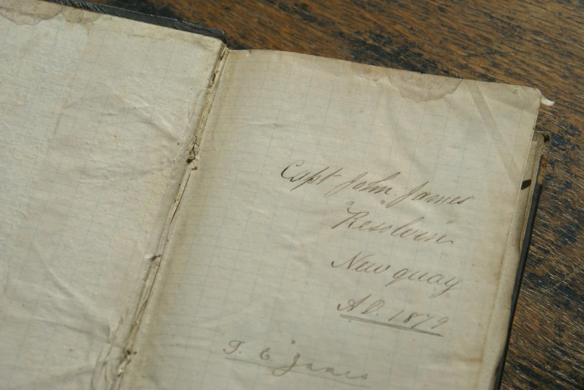 The Bible belonging to captain John James, that had been left on board the Resolven.