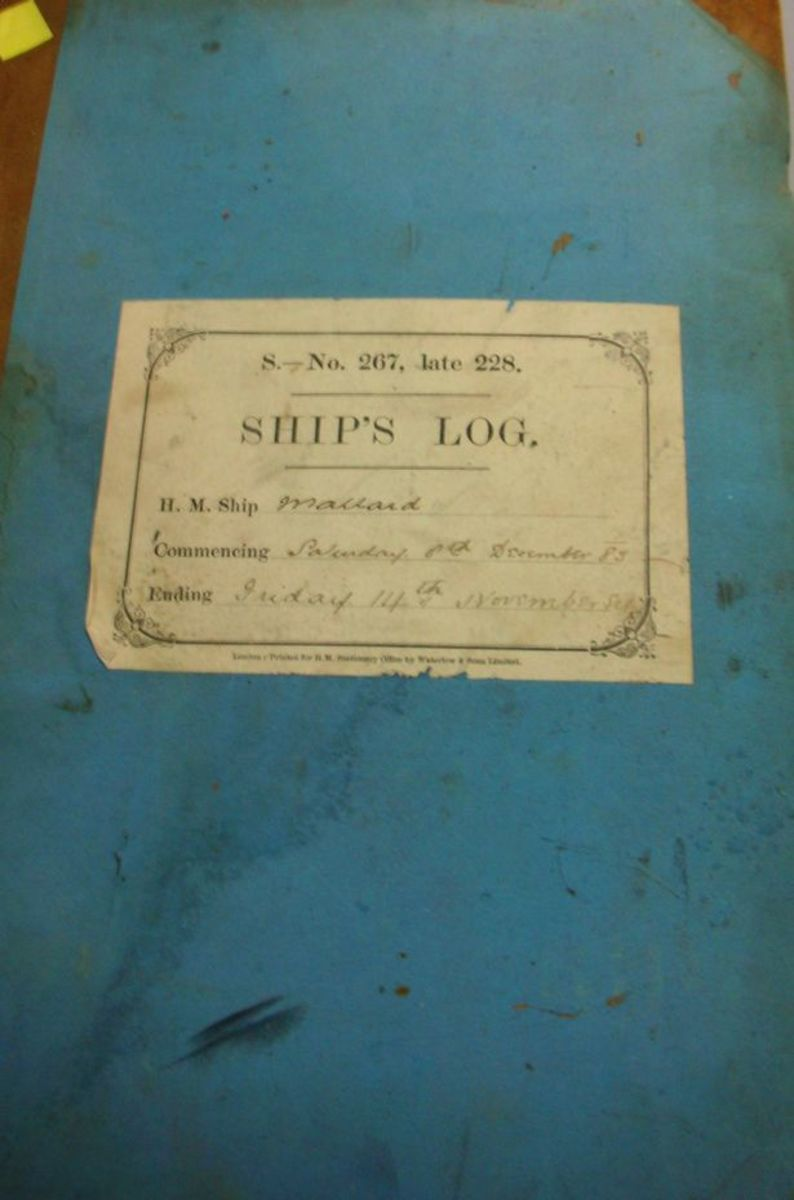 The log book from the HMS Mallard