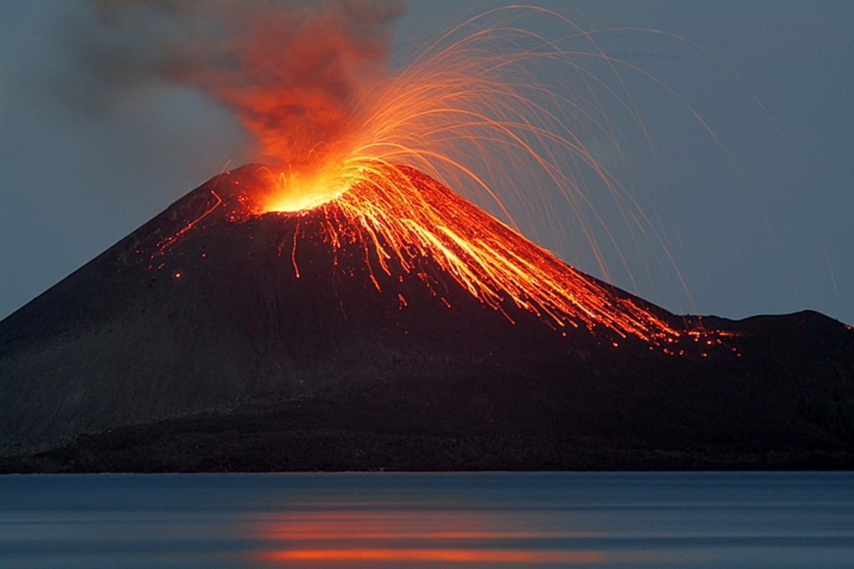Beginning in 2009 Anak Krakatua (son of Krakatau) began erupting again