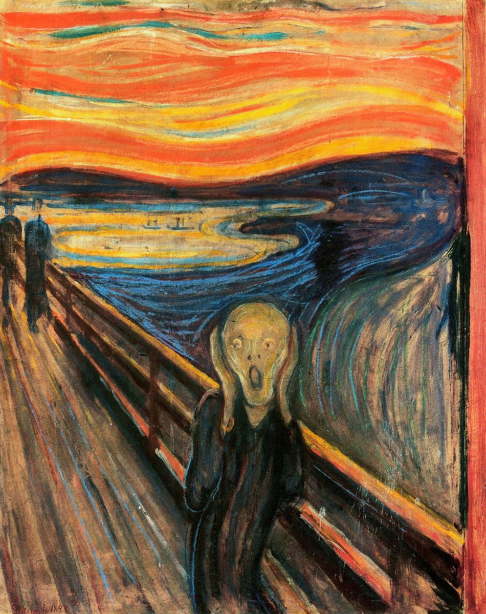 It is now believed that the colorful skies in Edvard Munch's painting, The Scream, are a real-life depiction of fallout from Krakatoa, the monster Pacific volcano that erupted in 1883.