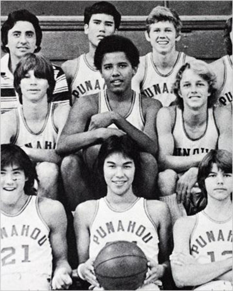 Barrack Obama played basketball at his Hawaii high school and on the FBI basketball court in Washington, D.C., where he lost several teeth in pick-up games.