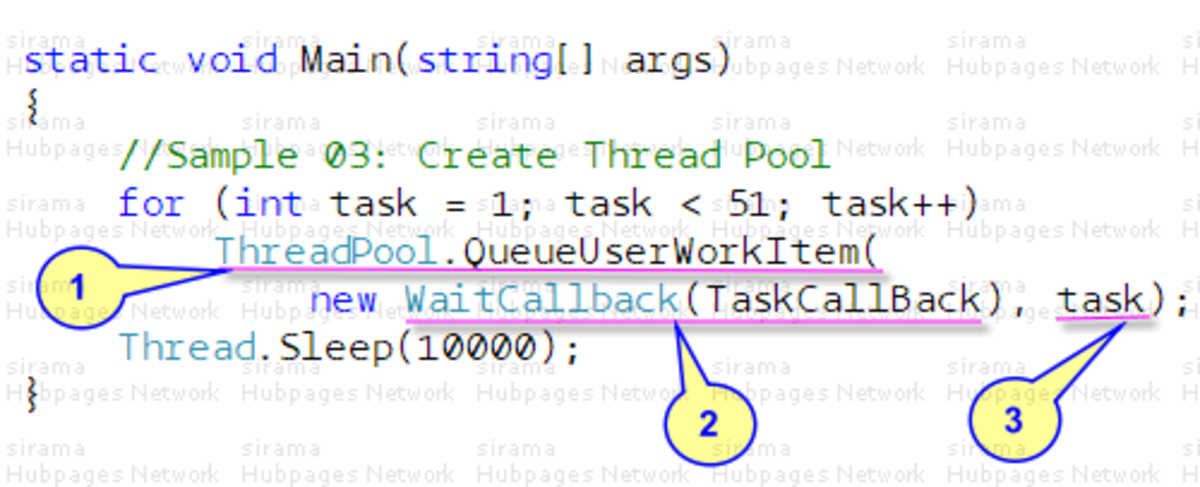 Queuing Tasks to C# ThreadPool