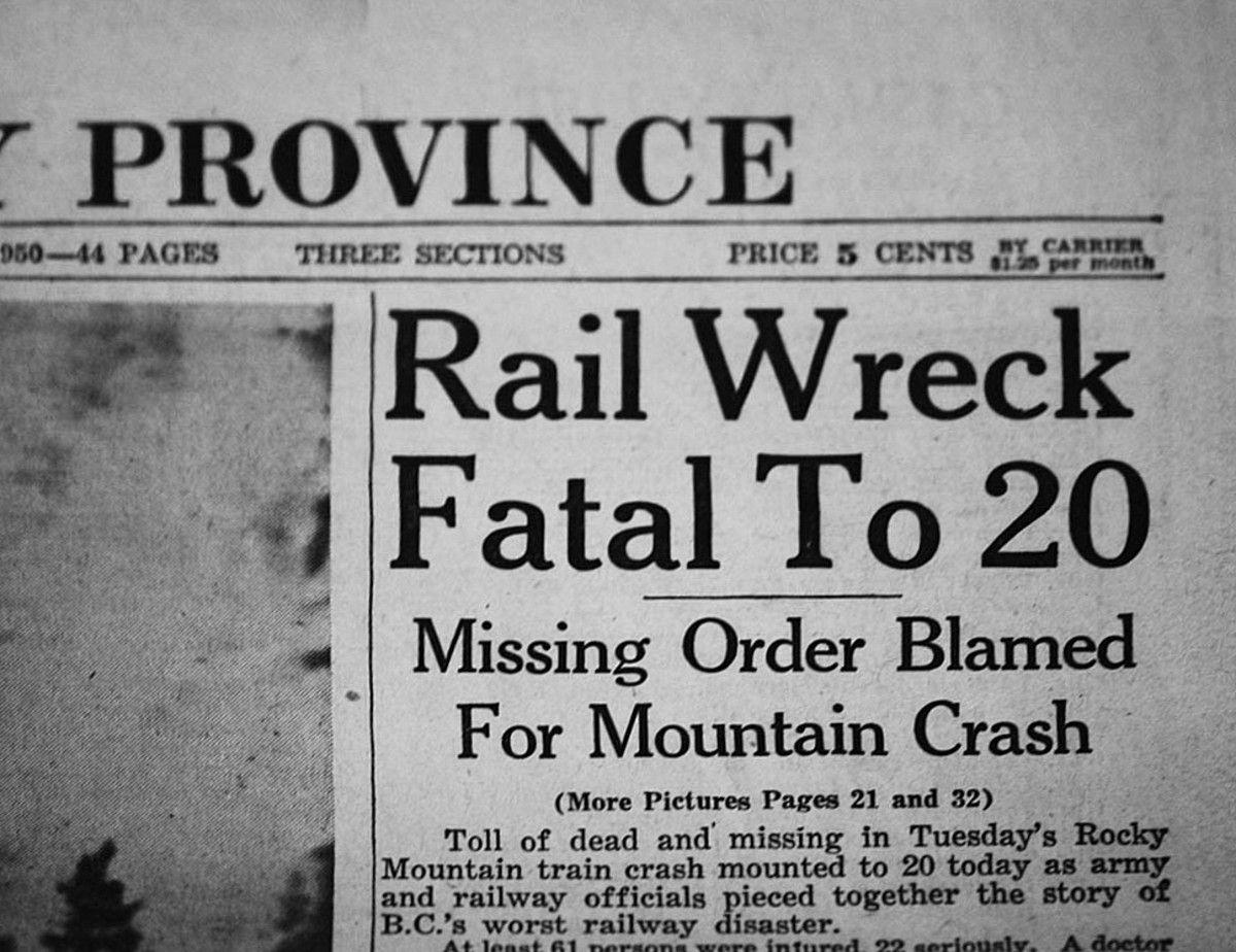 "According to MLA, APA, and Chicago standards, this title should read, ""Rail Wreck Fatal to 20"" The word ""to"" should not be capitalized."