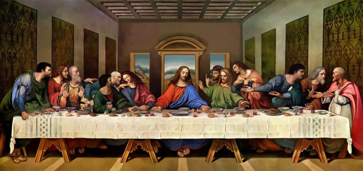 The Last Supper Jesus had with His disciples before His death.