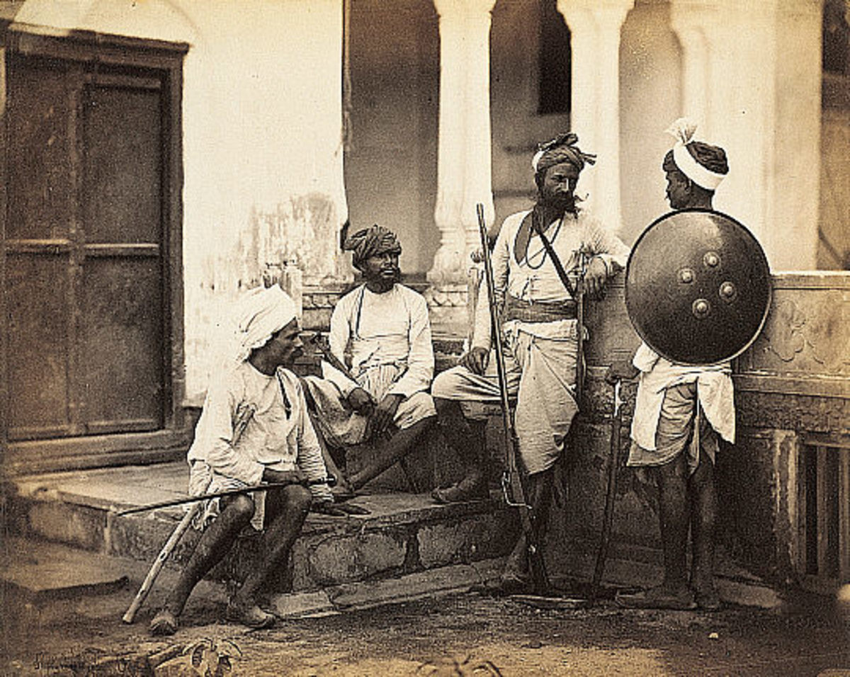 Rapjuts here or other groups like the Sikhs were fierce and privileged warrior castes under the British.
