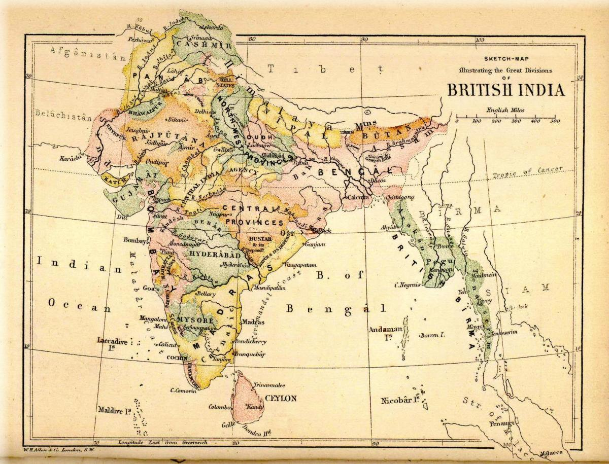 British India, around the time when Kim might have existed.