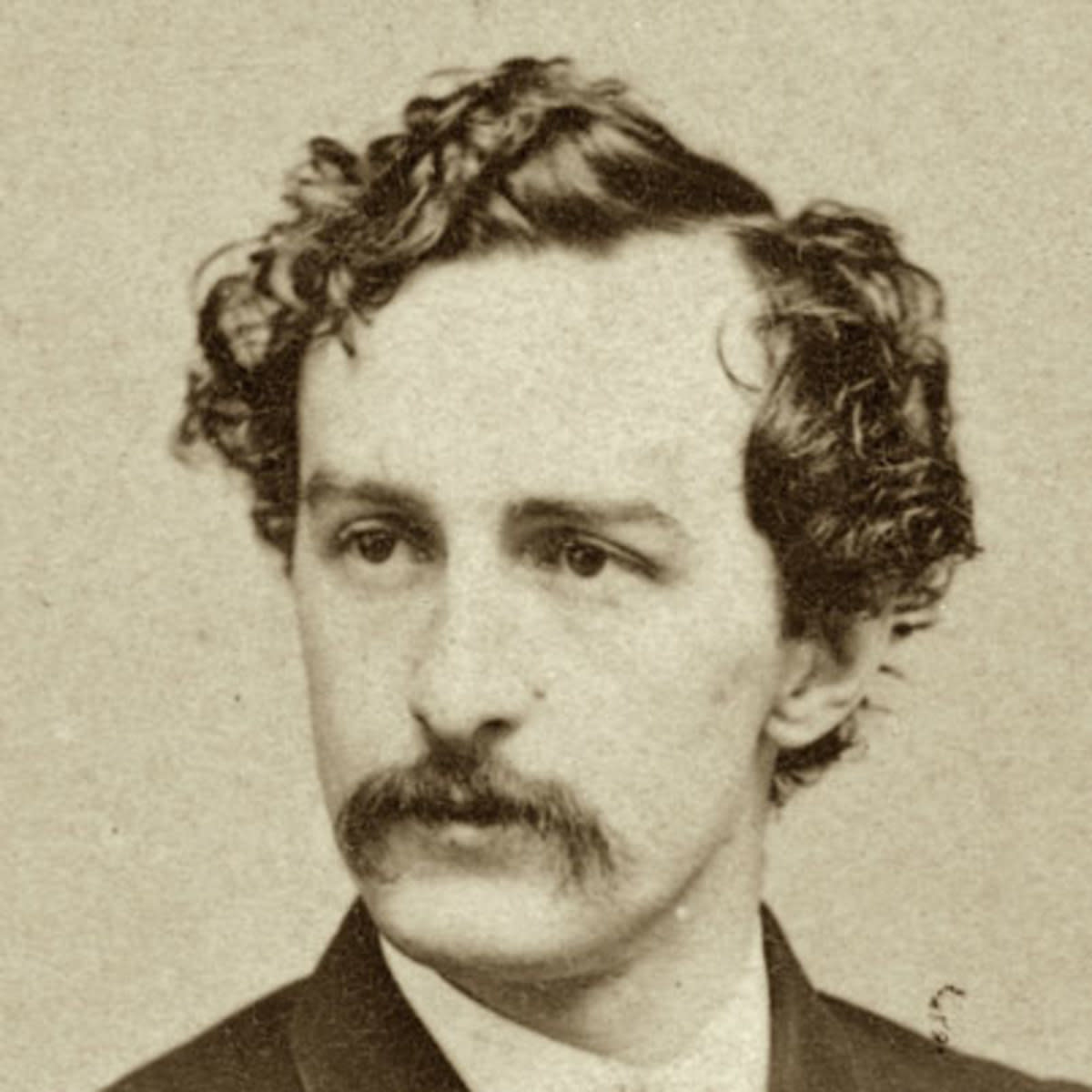 John Wilkes Booth. Abraham Lincoln's assassin, and a frequent visitor to Mary Surratt's boarding house in the months leading up to the assassination.