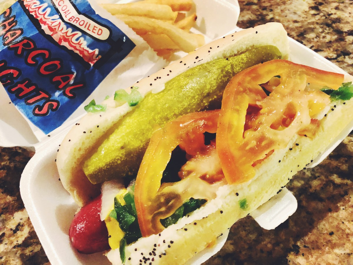 A Chicago dog is almost big enough to be an entire meal.