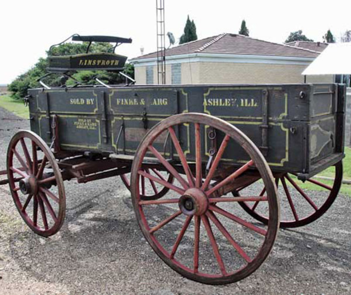 Wagons, similar to the one pictured here, would have been used by the military to transport goods throughout Oklahoma.