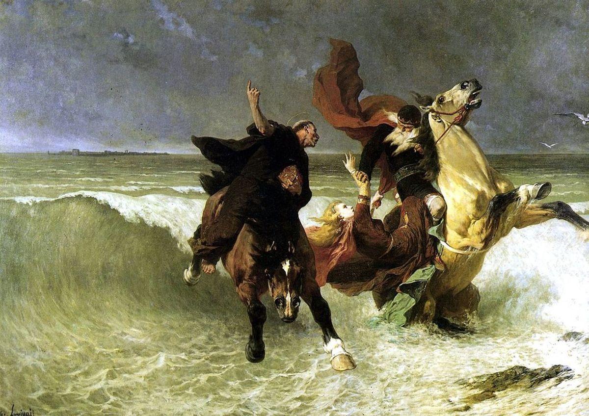 La Fuite du Roi Gradlon (The Flight of King Gradlon) - Évariste-Vital Luminais