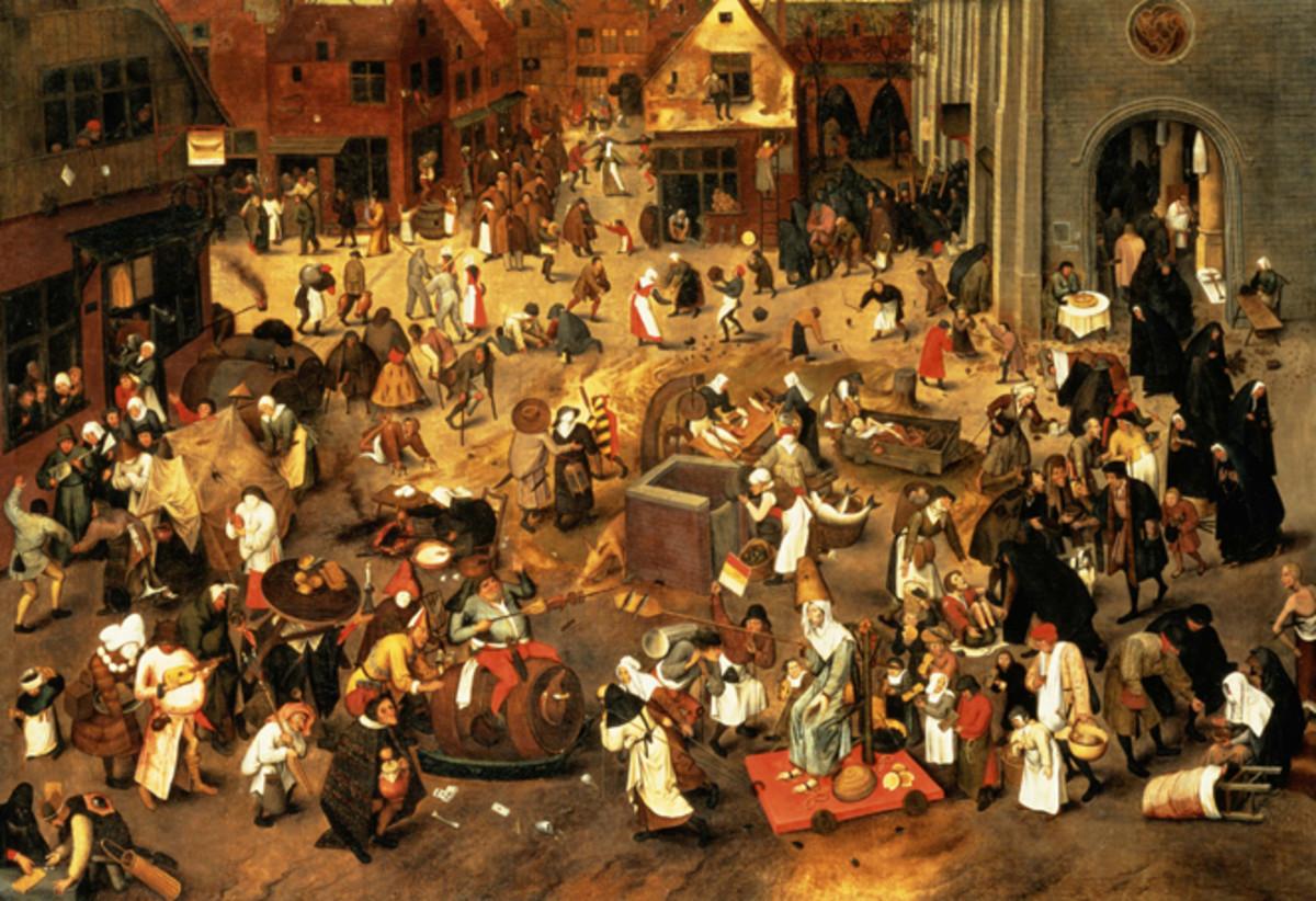 De strijd tussen Carnaval en Vasten (The Battle Between Carnival and Lent) - Pieter Breughel the Elder