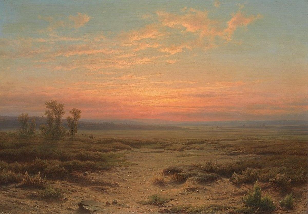 Heide bij avond (Moor in the Evening) - Cornelis Lieste
