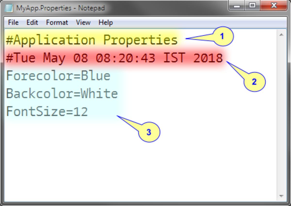 Content of MyApp Properties File