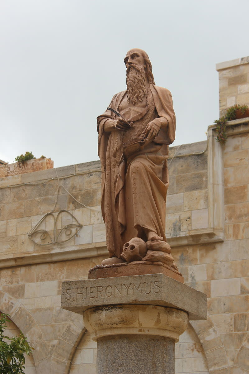 Statue of Jerome in Bethlehem