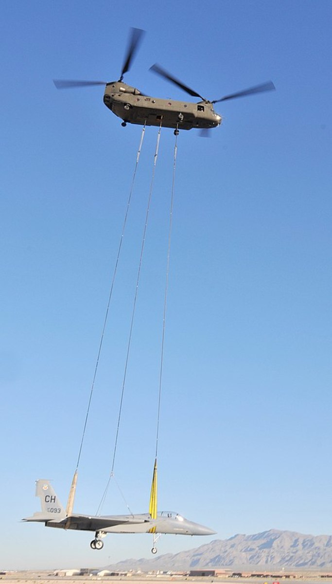 Airlifting an F-15