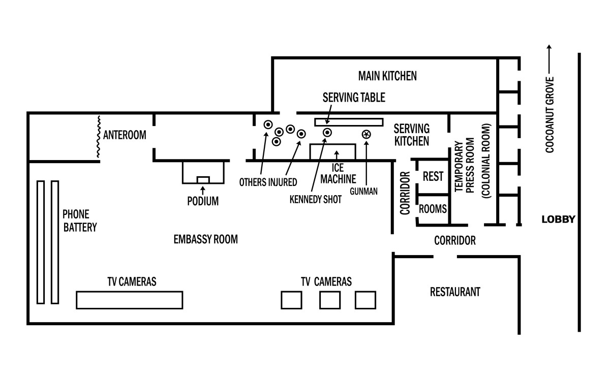 Layout of the Ambassador Hotel.