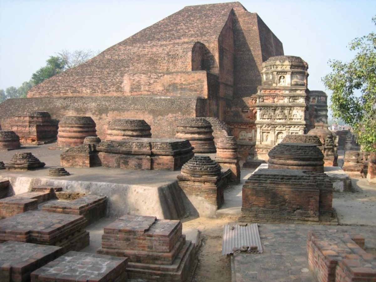The ruins of Nalanda Mahavihara