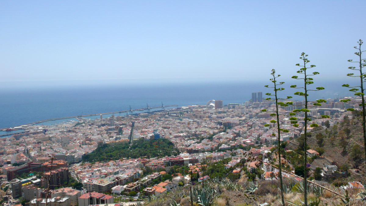 Panoramic view of the city of Santa Cruz de Tenerife