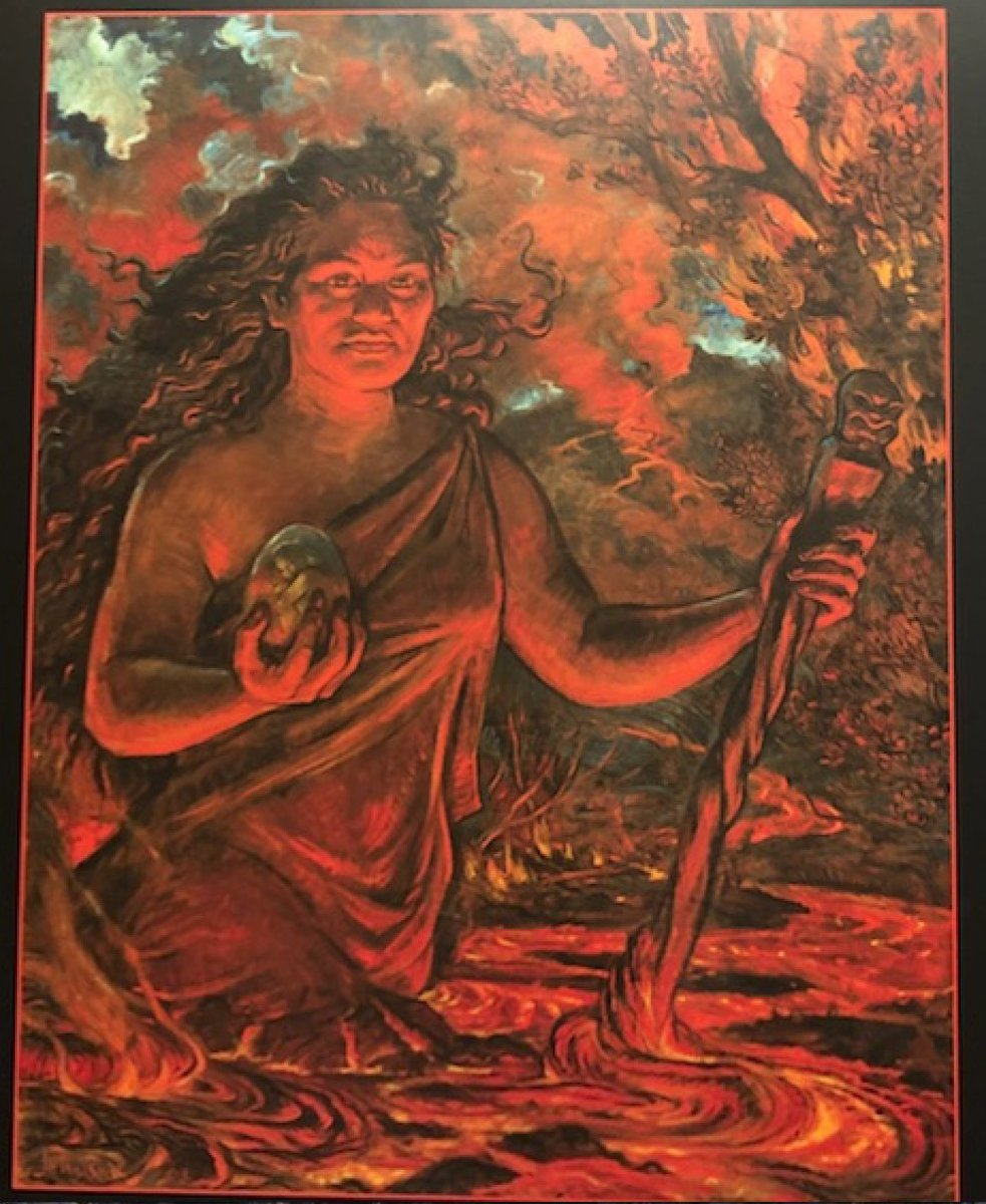 An imaginative portrait of the Hawaiian Goddess, Pele
