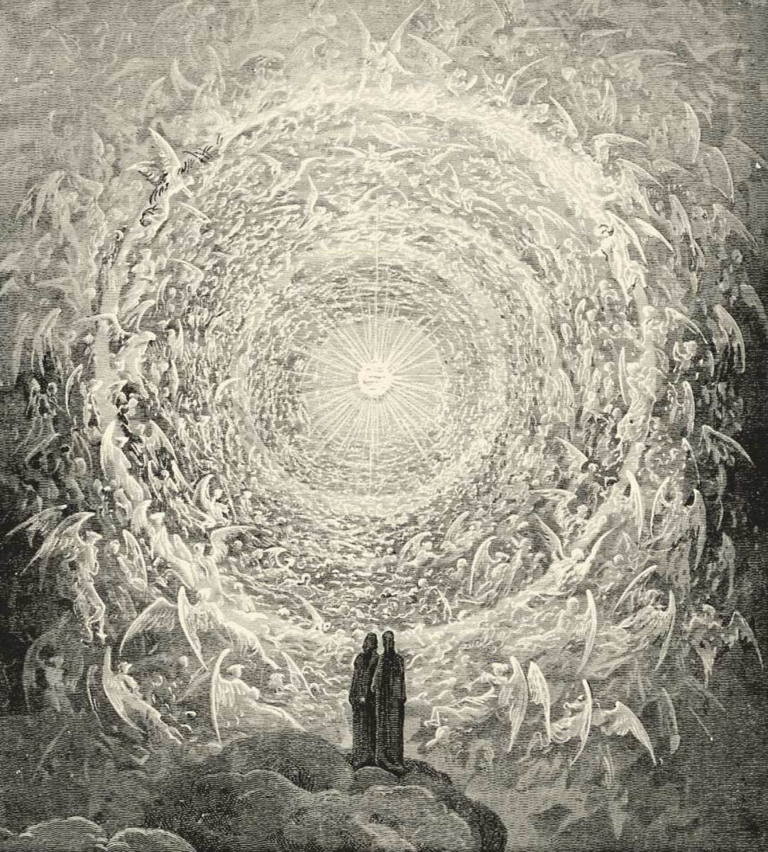 The vision of God in Dante's Paradiso, by Gustave Dore.