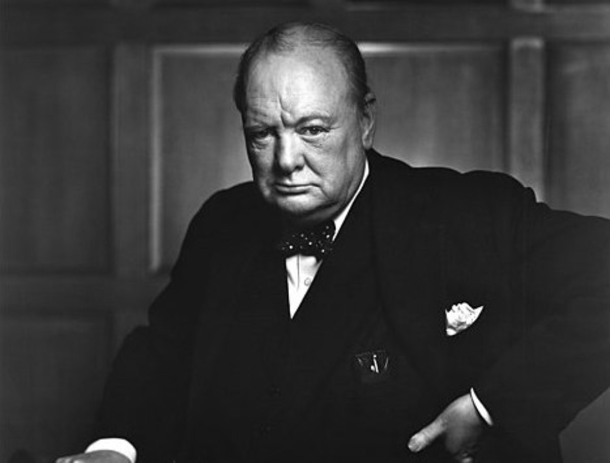 "Winston Churchill's last words were ""I'm bored with it all."""
