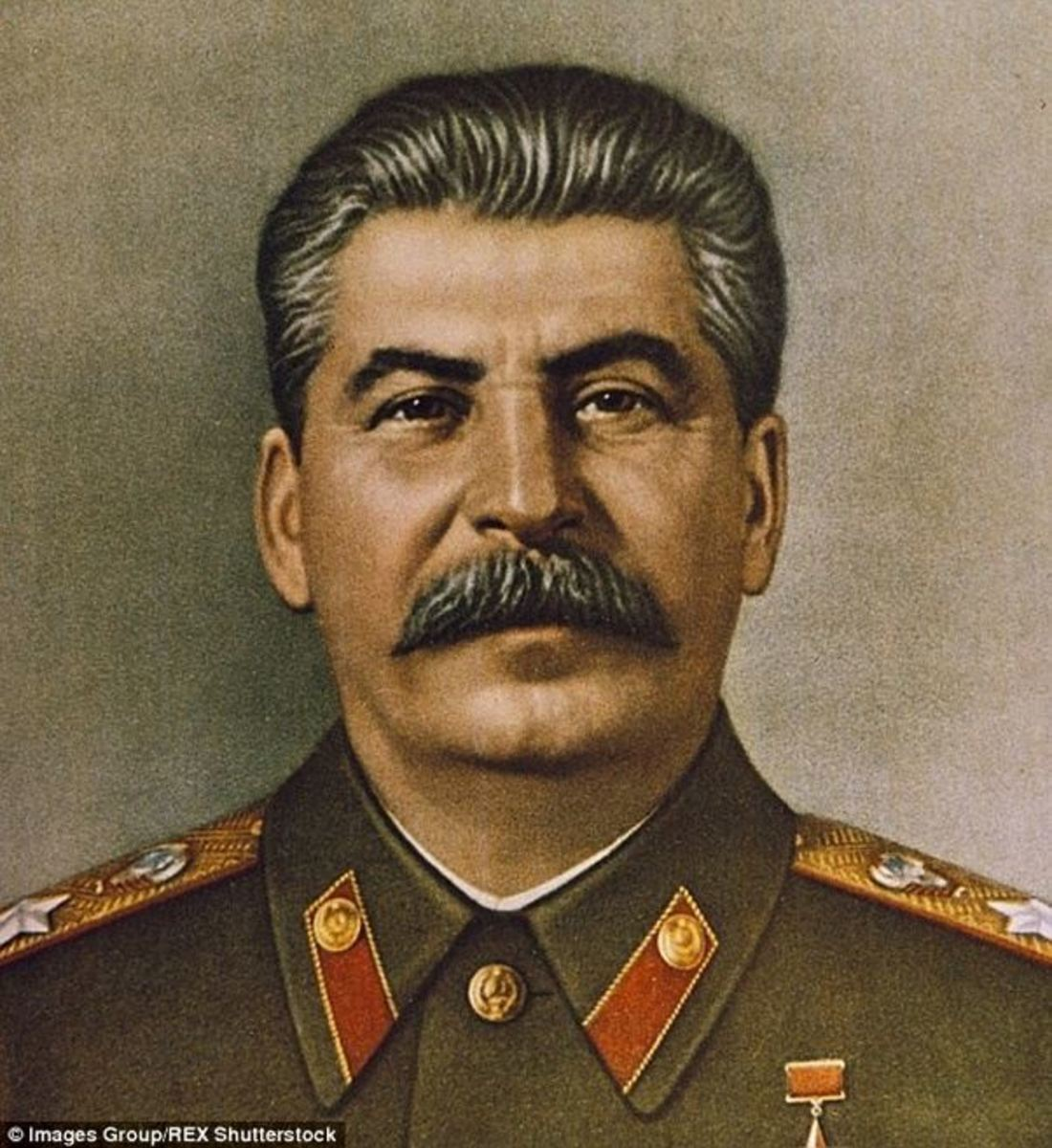 Famous portrait of Joseph Stalin.