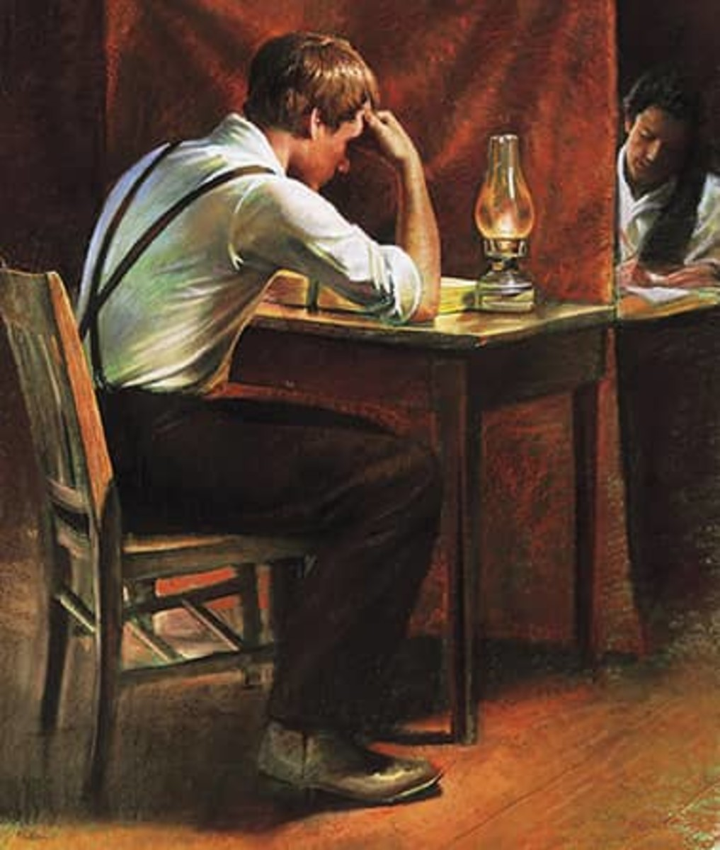 Joseph Smith, Jr. Translating the Gold Plates into the Book of Mormon
