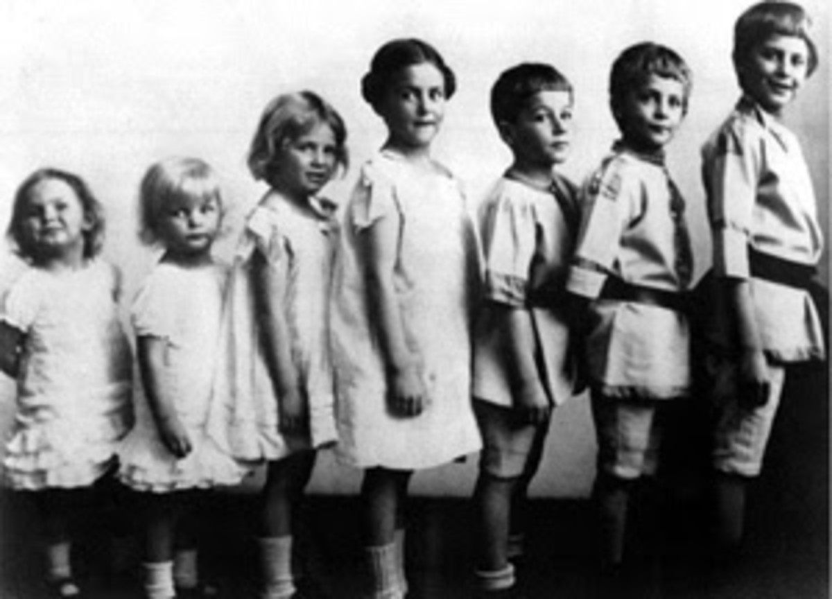 Young Dietrich Bonhoeffer with siblings