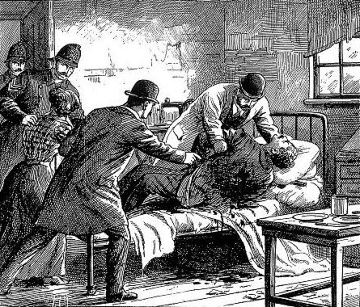 The discovery of George Gardstein's body as depicted by the Illustrated London News.