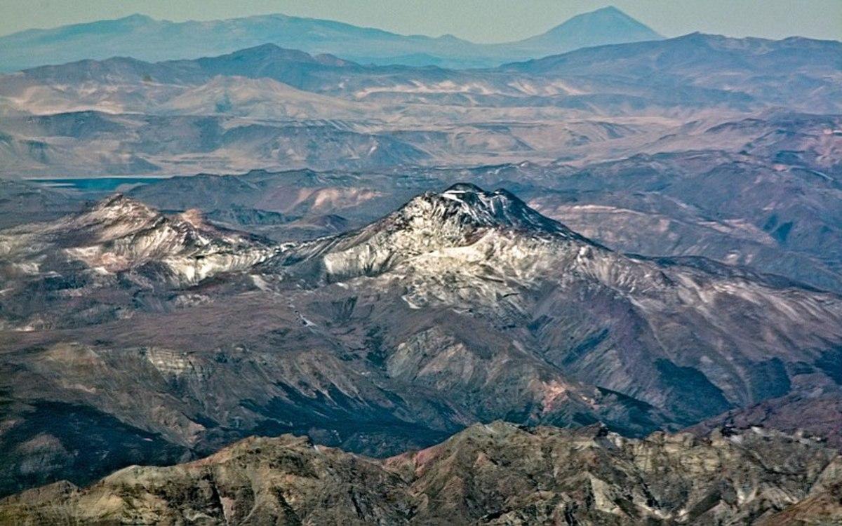 A photograph of the San Pedro Pellado composite volcano in Chile
