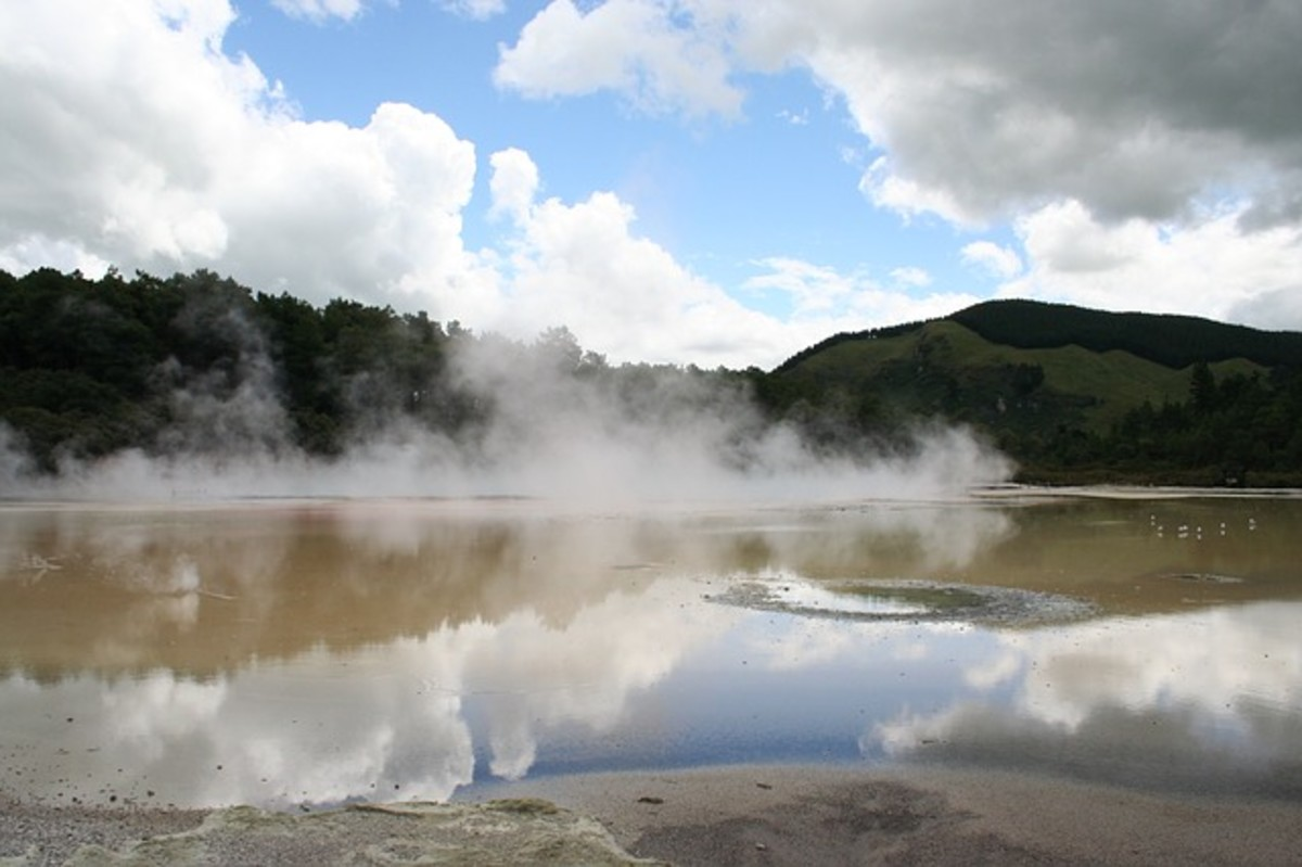 A photo of a typical volcanic mud pool
