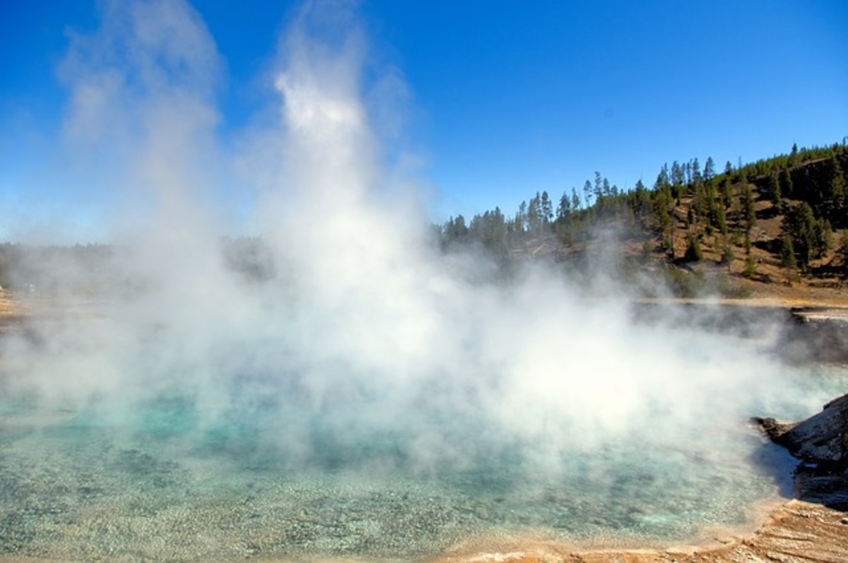 A photo of a typical volcanic hot spring