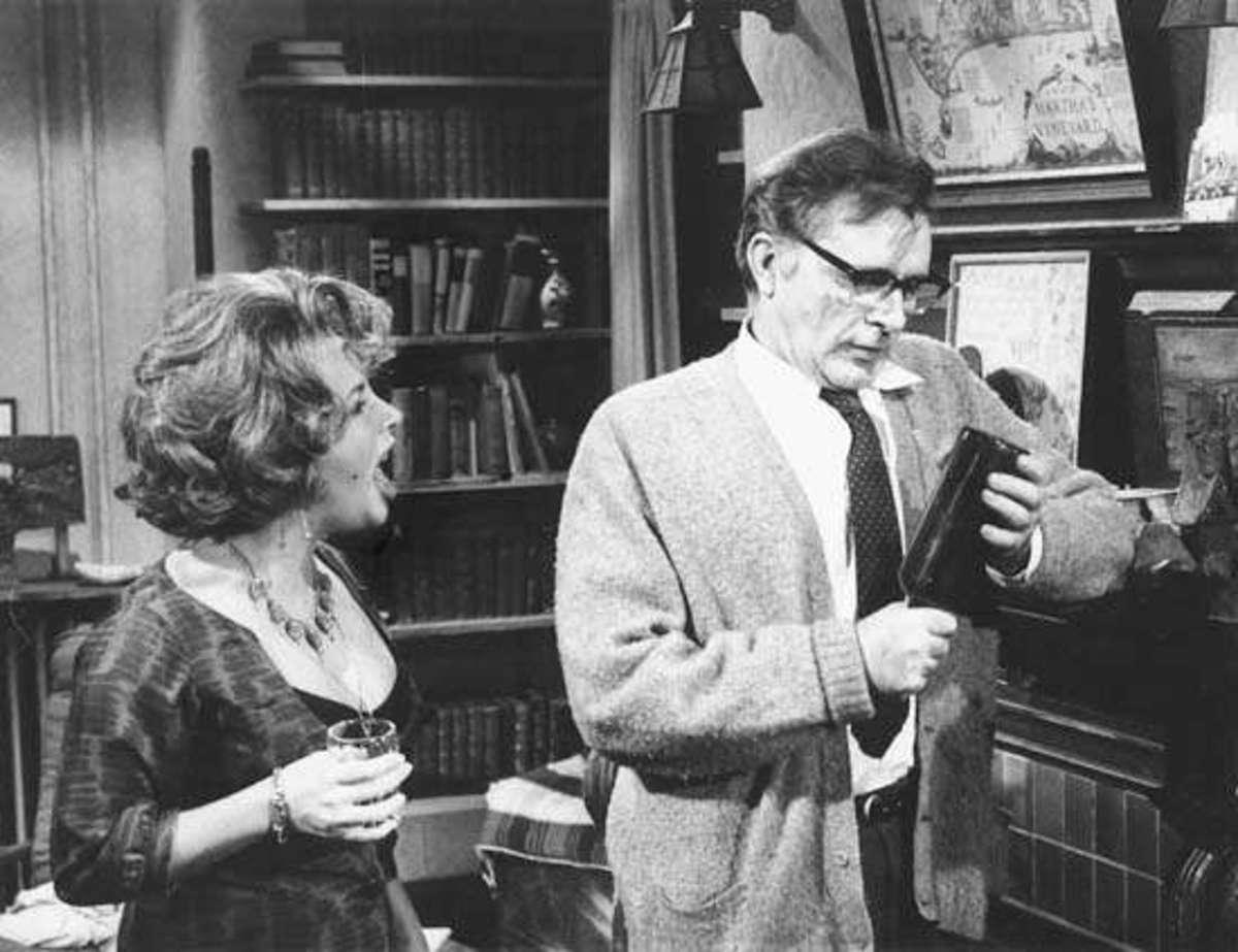 "Elizabeth Taylor and Richard Burton in ""Who's Afraid of Virgina Woolf?"" (1966)"