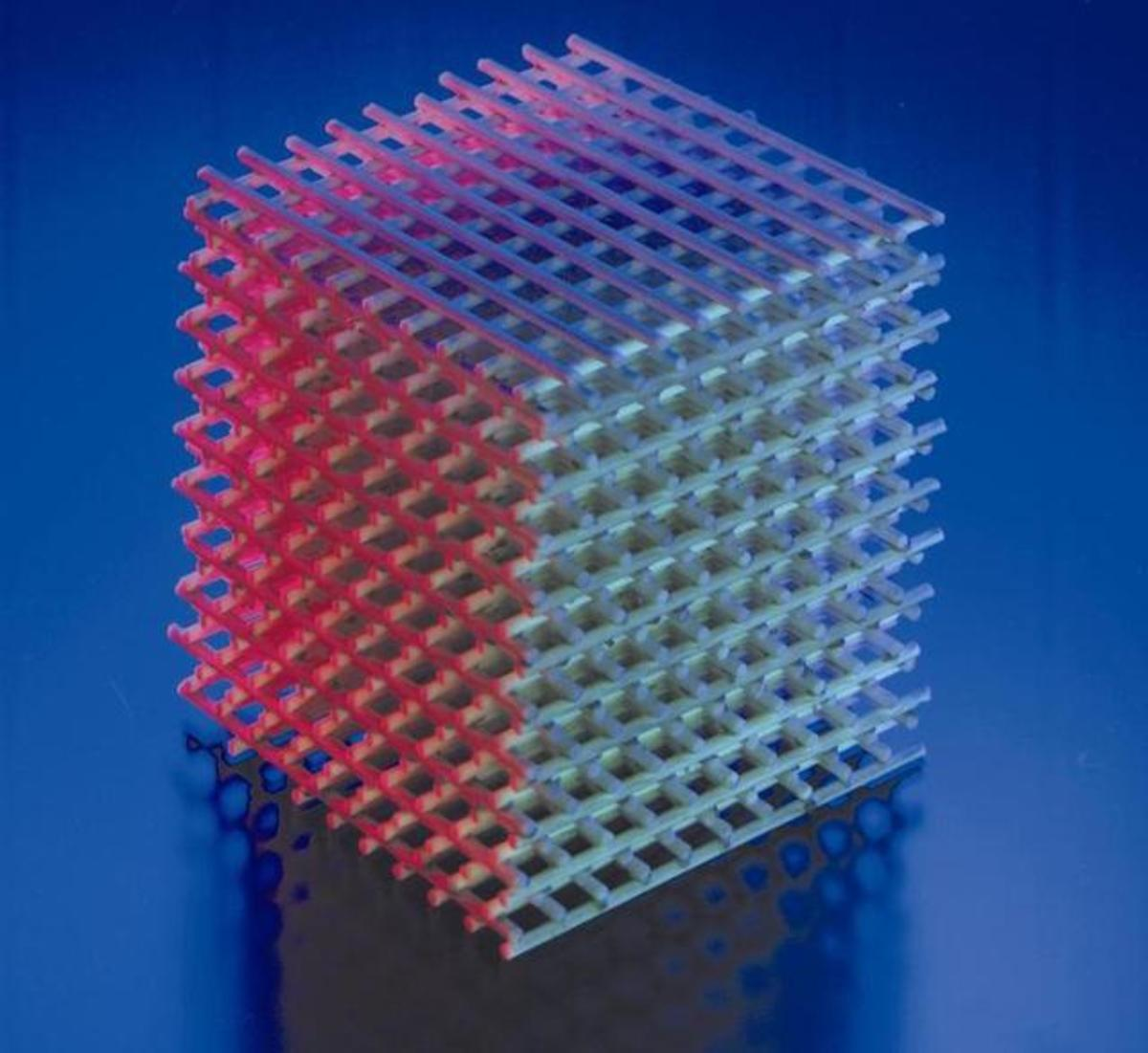 A photonic crystal.