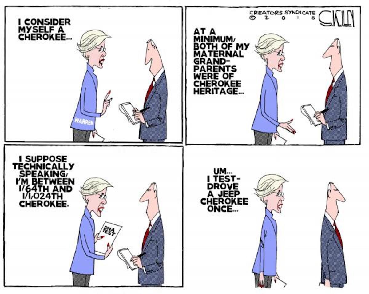 Cartoon Elizabeth Warren