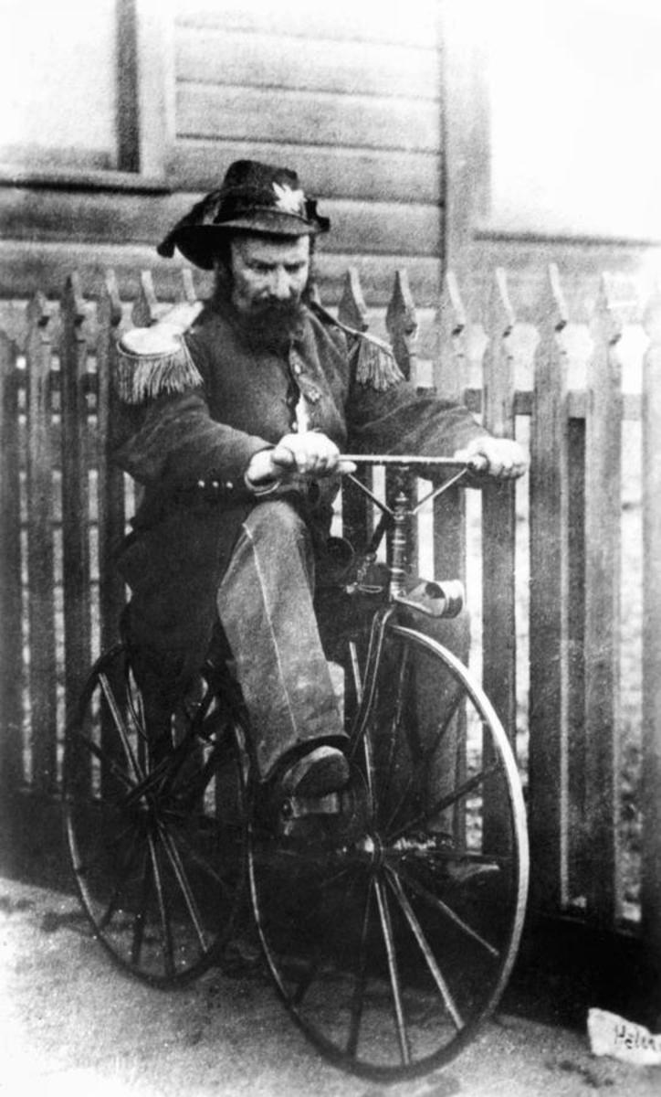 Emperor Norton I on bicycle