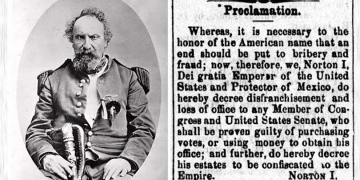 Emperor Norton I proclamation