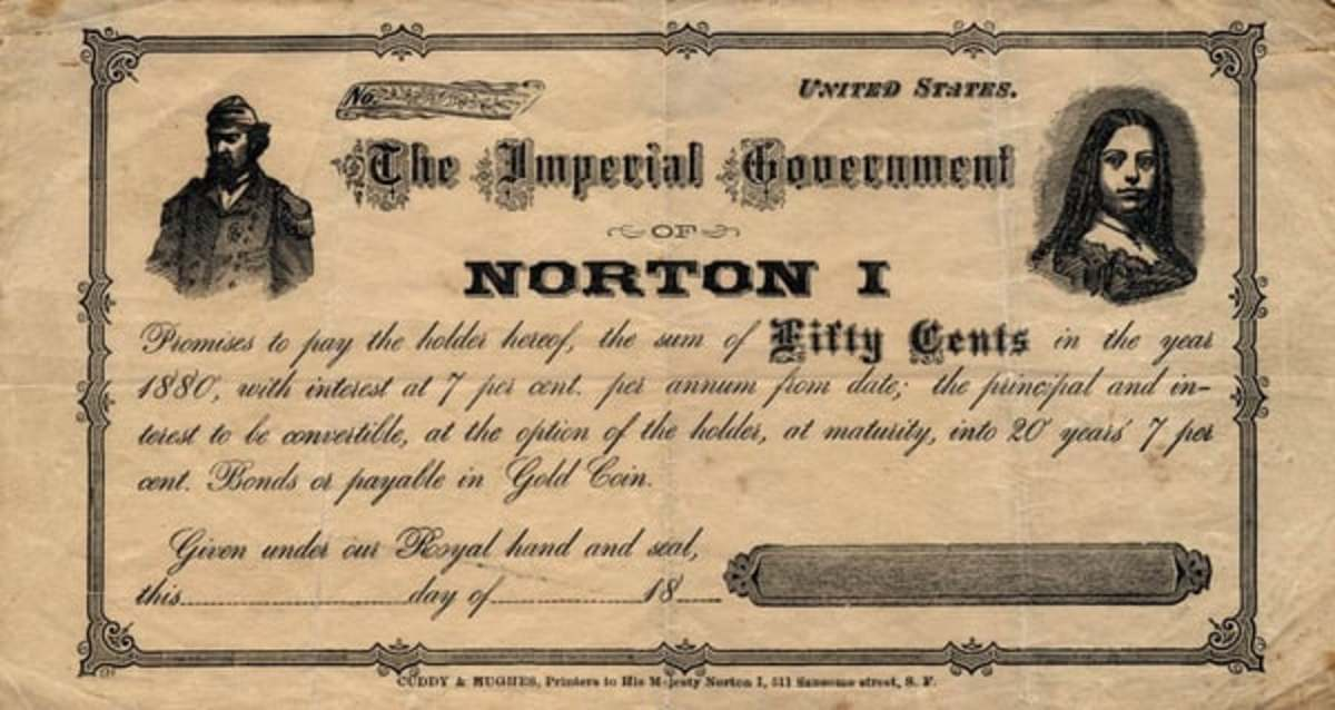 Emperor Norton I currency