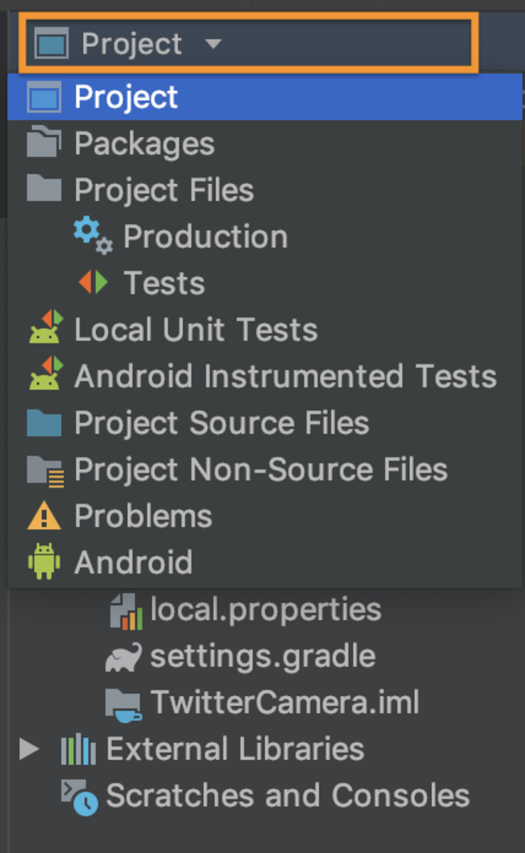 Project Tree view type