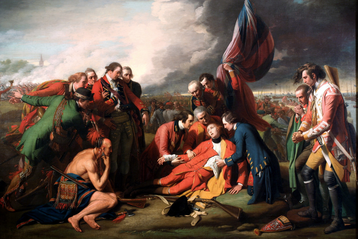 The Death of General Wolfe, by Benjamin West, 1770