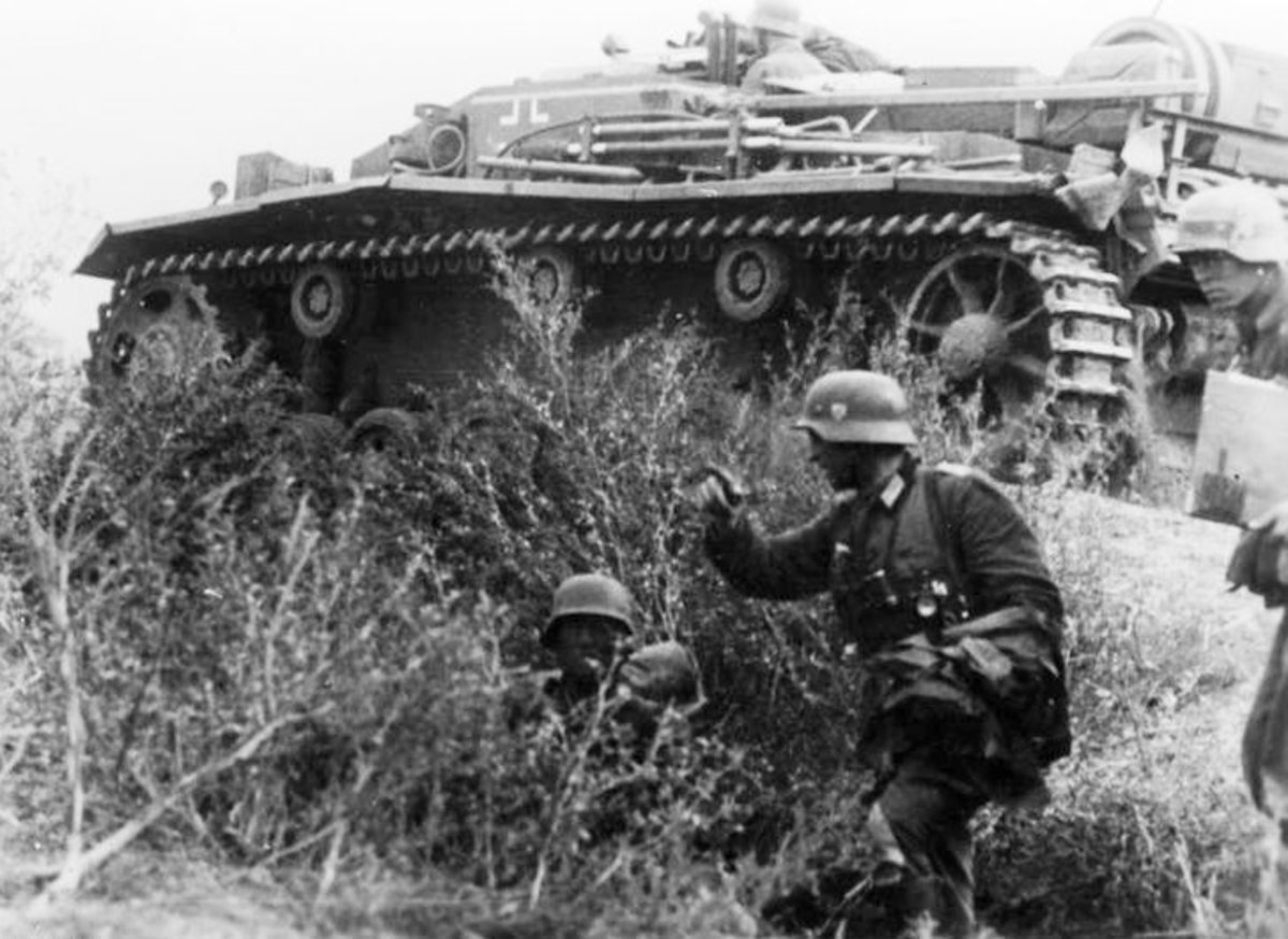 German forces on the outskirts of Stalingrad.