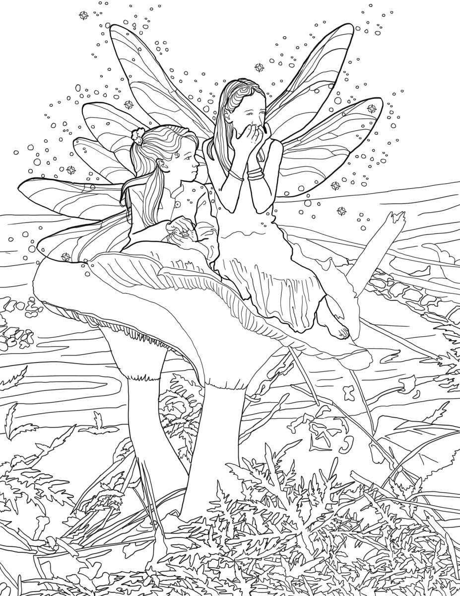 A page from my Little Fairies Coloring Book