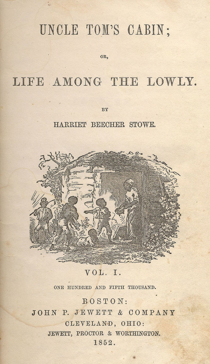 Early cover page for Uncle Tom's Cabin