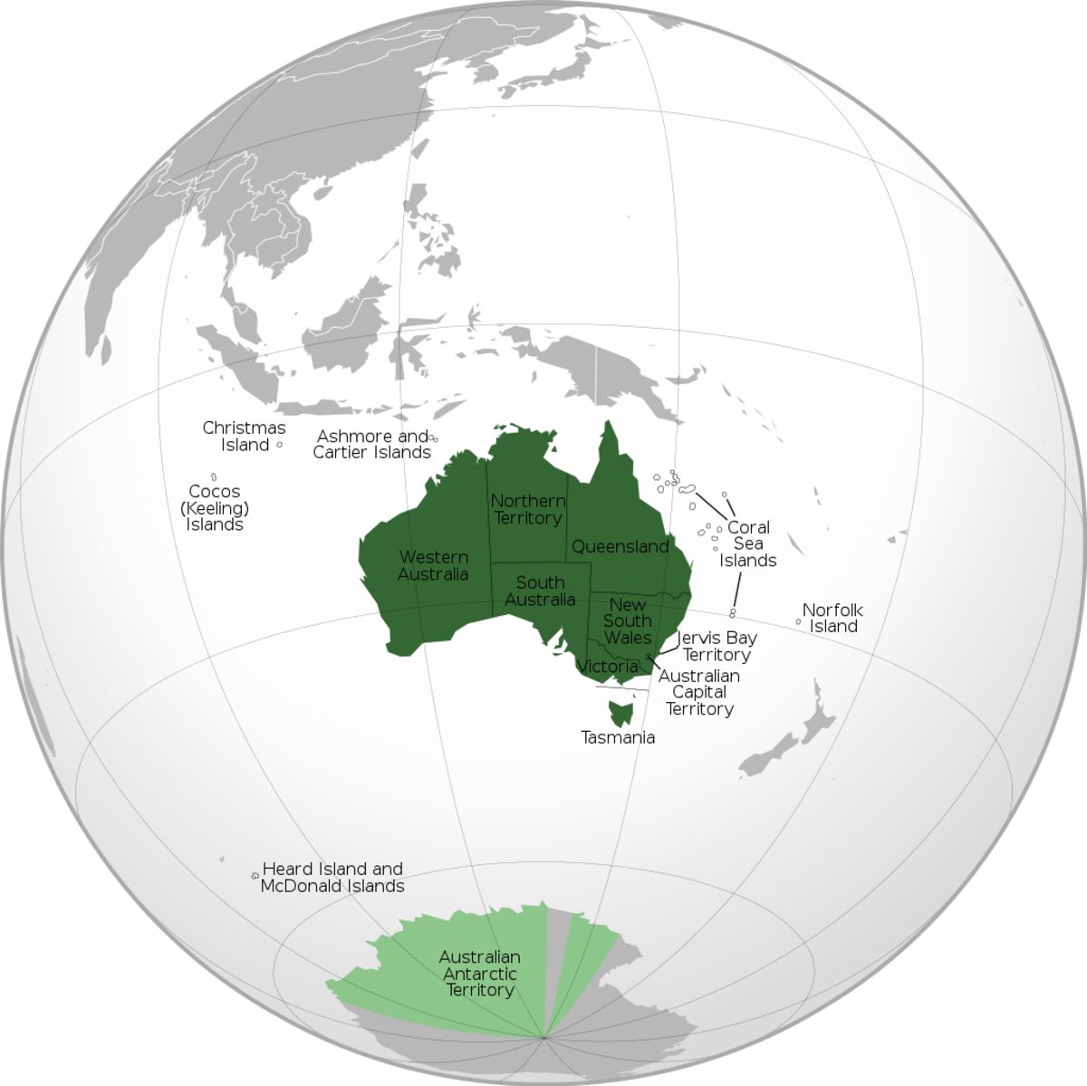 States and territories of Australia; the crucifix frog is found in Queensland and New South Wales in eastern Australia