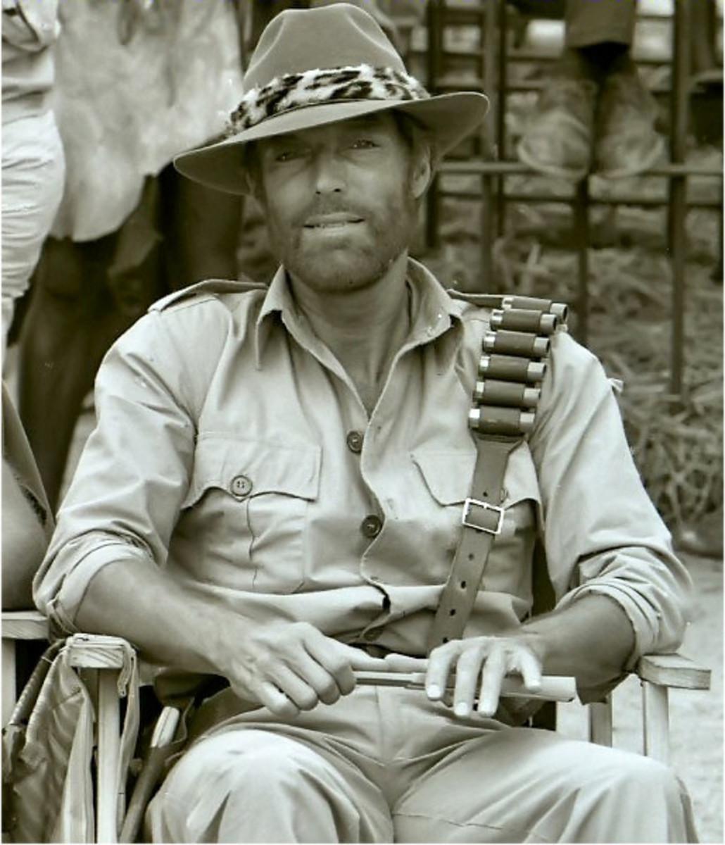 Richard Chamberlain starring as Allan Quatermain in King Solomon's Mines 1985.