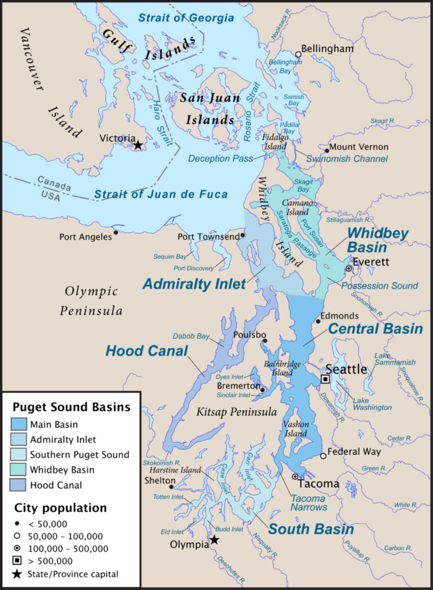 Puget Sound and other parts of the Salish Sea