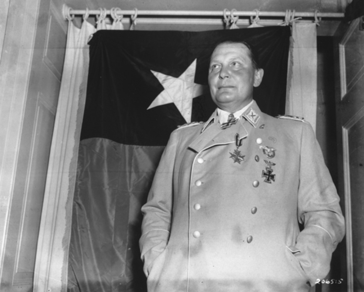 Goering after his capture by American forces.